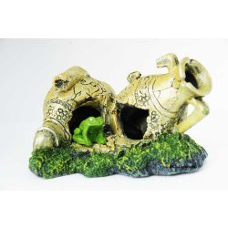 Amphoren mit Frosch für Aquarium und Terrarium und Blumenkübel