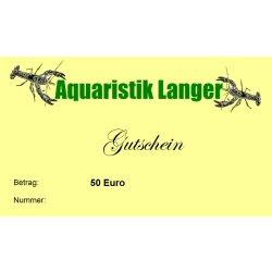 Geschenkgutschein 50 Euro Aquarientiere Aquaristikzubehör Aquarientechnik kaufen Aquaristik-Langer