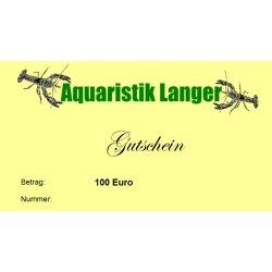 Geschenkgutschein 100 Euro Aquariumzubehör Garnelen Krebse Schnecken günstig kaufen Aquaristik-Langer