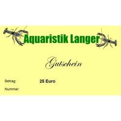 Geschenkgutschein 25 Euro für Terraristik Teich Aquaristik günstig kaufen Aquaristik-Langer