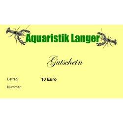 Geschenkgutschein 10 Euro Aquarium Garnelen Krebse - Aquaristik-Langer günstig kaufen