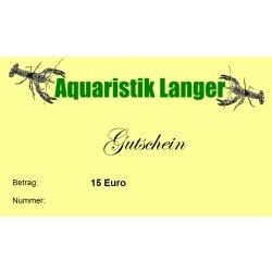 Geschenkgutscheine 15 Euro Aquaristik Terraristik Tiere Zubehör Aquaristik-Langer