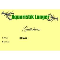Geschenkgutschein 20 Euro für Aquaristik Terraristik Teich günstig kaufen Aquaristik-Langer