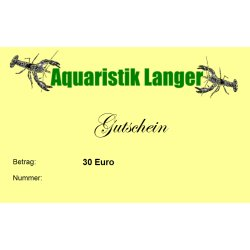 Geschenkgutschein 30 Euro für Terraristik Aquaristik Teich günstig kaufen Aquaristik-Langer