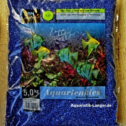 Aquarienkies Farbkies Zierkies blau Bodengrund Aquarien kaufen Aquaristik-Langer