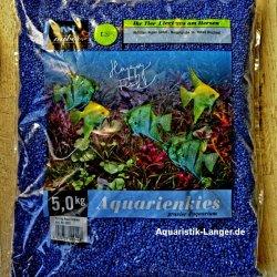 Aquarienkies Farbkies Zierkies blau Bodengrund Aquarien...