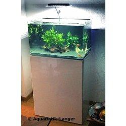 Aquarium-Set Blau Schrank und Aquarium Square Cubic 80 weiss günstig kaufen Aquaristik-Langer
