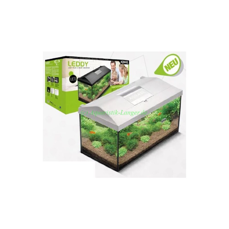 aquarium set 25 liter aquael leddy 40 weiss led g nstig kaufen 49 90. Black Bedroom Furniture Sets. Home Design Ideas