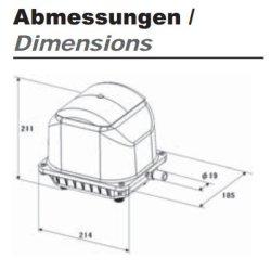 Secoh JDK-S-120 Membrankompressor für Aquarienanlagen und Teiche
