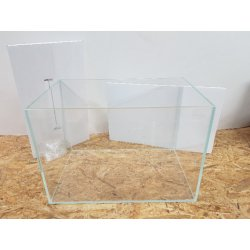 Set Blau Cubic Aquascaping 80 Comfort Weissglas mit Filter, Heizung und LED-Beleuchtung