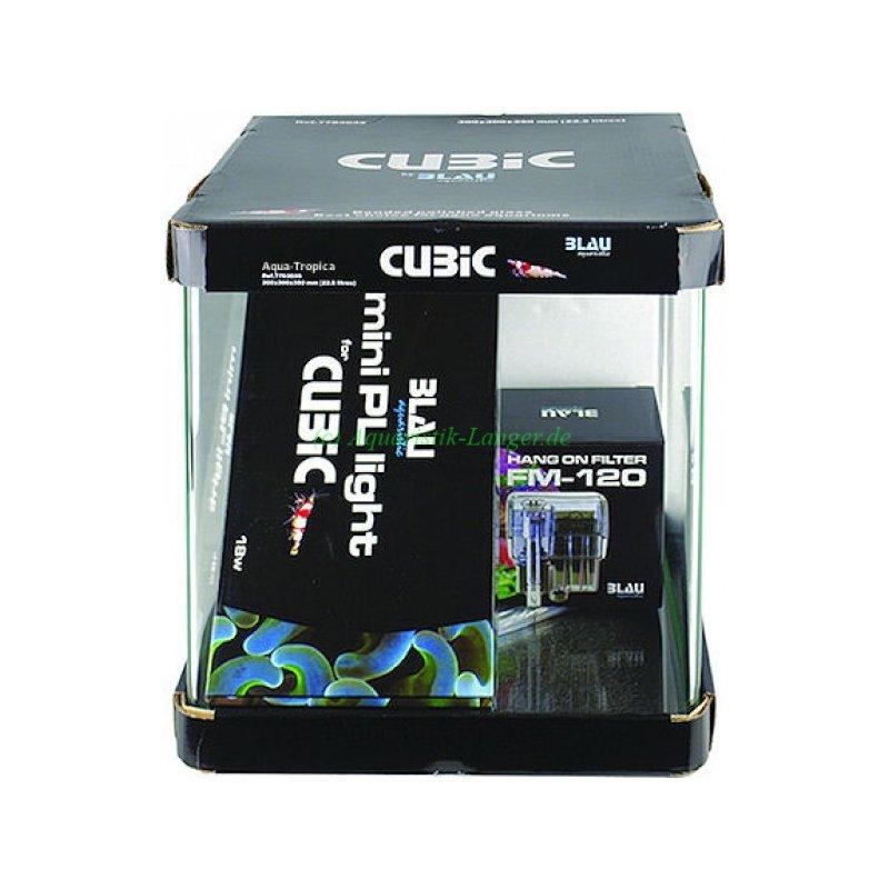 blau cubic 30 starter set nanocube nanoaquarium g nstig kaufen 77 95. Black Bedroom Furniture Sets. Home Design Ideas