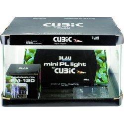 Blau Square 28, Starter-Set Design-Nano-Aquarium günstig...